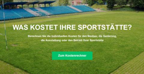 Sportstättenrechner ist die Informations-Plattform rund um die Kosten im Sportstättenbau.