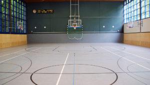Linoleum Sportboden, Kosten Sporthallenboden, Sporthallenbau, Sportlinoleum