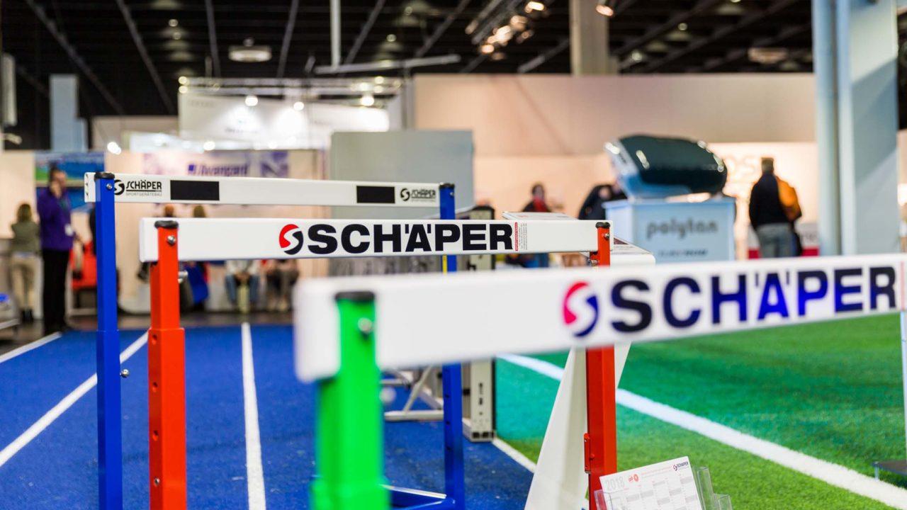 Schäper Sportgerätebau auf der FSB Cologne. Sportgeräte, Trainingsgeräte und Fußballtore