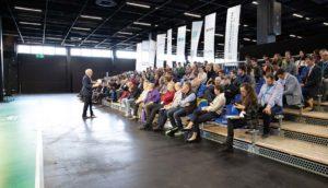 """Der Kongress """"Sportstätten finanzieren"""" fand erstmalig im Rahmen von SPORTNETZWERK.FSB statt.   Bild: sportstaettenrechner.de"""