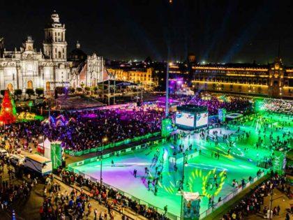 Schweizer Eco-Schlittschuhbahn ersetzt Eisfeld in Mexiko-Stadt