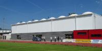 Sporthalle mit textiler Gebäudehülle im südhessischen Griesheim eröffnet