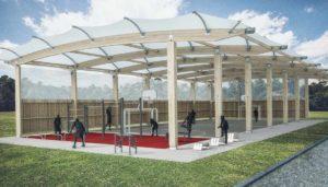 Freilufthalle mit Outdoor-Fitnessgeräten: Kosten für Sporthalle und Freilufthalle