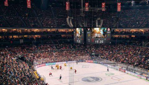Anzeigetafel Multifunktionsarena: Kosten für Anzeigetafel für Arena inkl. Eishockey, Basketball, Handball und viele Sportarten, Videowürfel