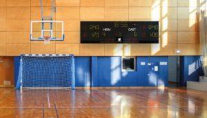 Anzeigetafel Sport: Kosten für die Anzeigetafel für die Sporthalle, Sportanzeigen und Multisportanzeigen: PReise vergleichn und Kosten kalkulieren für Basketball, Handball, Volleyball und Tennis