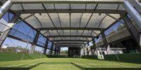 Freilufthalle und 6-Feld-Tennishalle realisiert