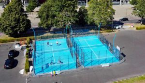 Ein mobiler Padel Court für Events und zur Aktivierung des Padel Courts.
