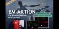 EM-Aktion: Anzeigetafel und Trikotsatz für Fußballvereine